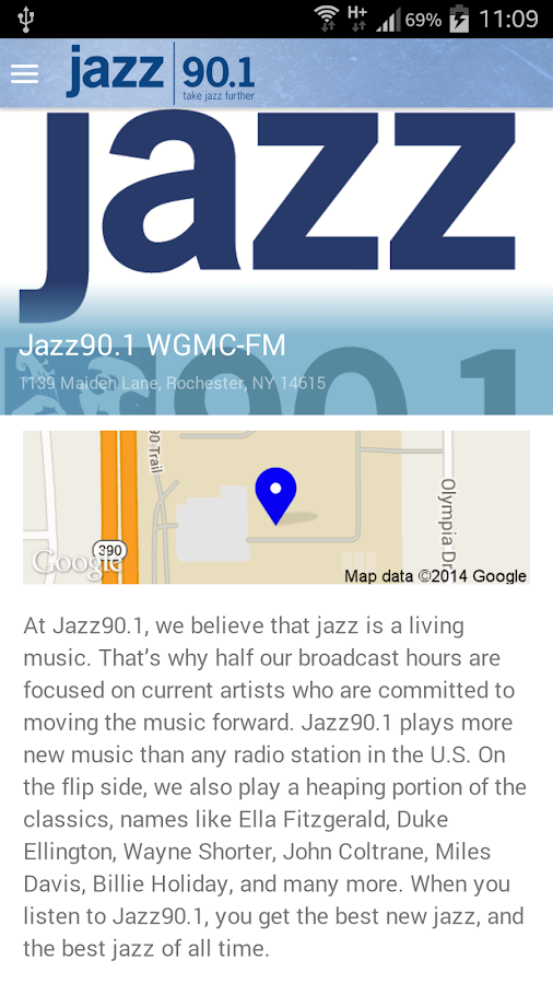 Jazz90.1 WGMC-FM- screenshot