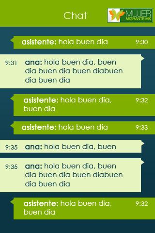 Chat Mujer migrante- screenshot