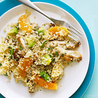Quinoa Salad with Chicken, Avocado, and Oranges.