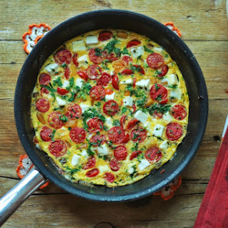 Pumpkin Butter, Cherry Tomato, and Feta Fritatta