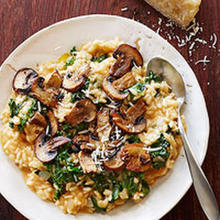 Cheesy Mushroom-Kale Risotto