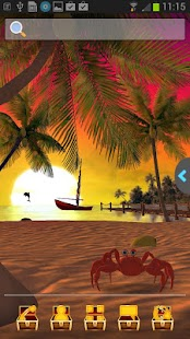 UR 3D Beach Island Live Theme - screenshot thumbnail