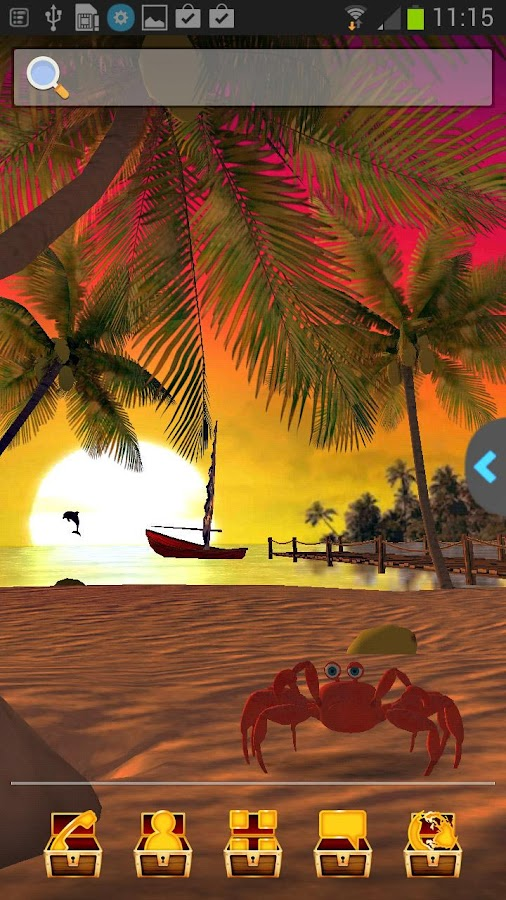UR 3D Beach Island Live Theme - screenshot
