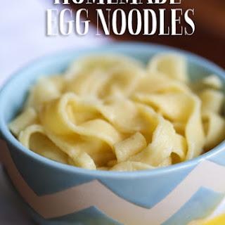 How to Make Homemade Egg Noodles.
