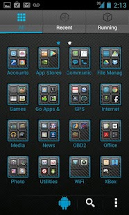 Blue Carbon Go Launcher Theme - screenshot thumbnail