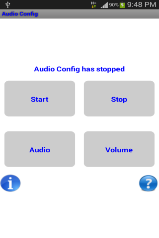 Audio Config- screenshot