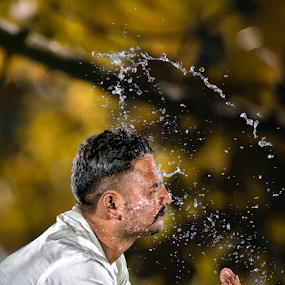 Refreshed by Fahad Iqbal - People Street & Candids ( water, canon, high speed photography, strobist, drop, male, action shot, drops, portrait, 5d mk iii, strobe )