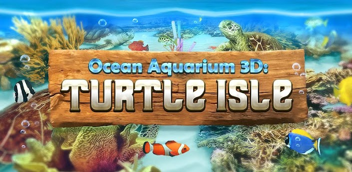Download Ocean Aquarium 3D: Turtle Isle v1.1 LIVE WALLAPER APK