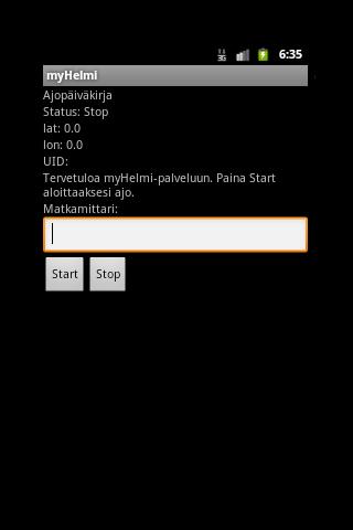 myHelmi - Ajopäiväkirja- screenshot