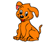 Sweet puppy battery widget icon
