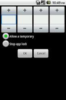 Screenshot of Shake AppLock