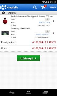 Pigu.lt mobilioji parduotuvė - screenshot thumbnail