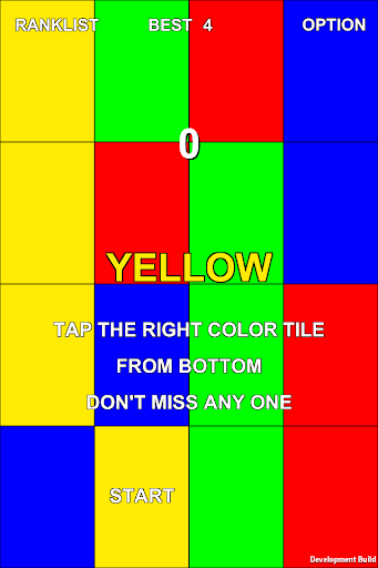 Tap The Right Color Tile