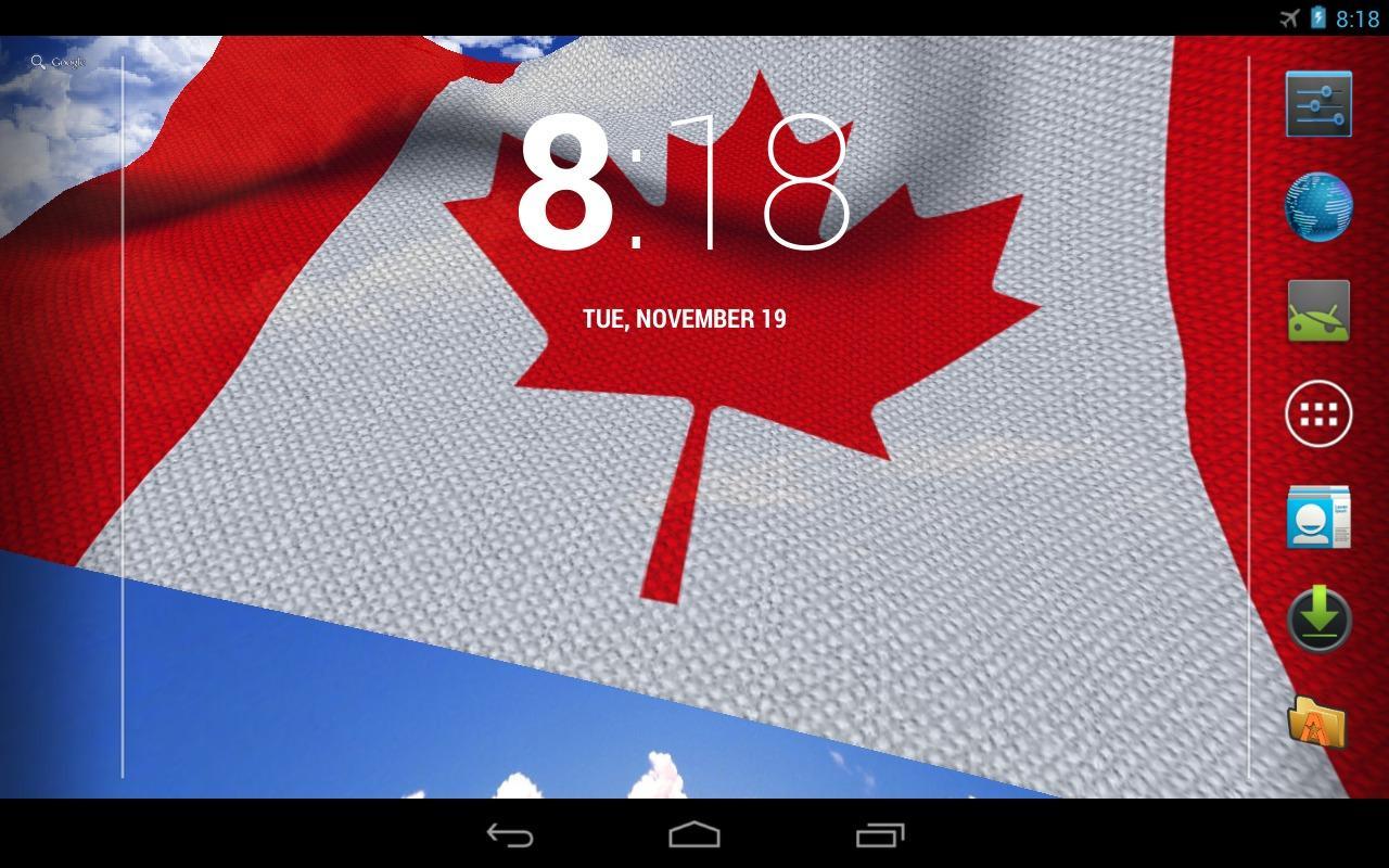 3d canada flag live wallpaper google play android for 3d wallpaper canada