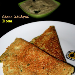 Kabuli chana or chickpea Dosa (Garbanzo dosa) – 200 calorie meal