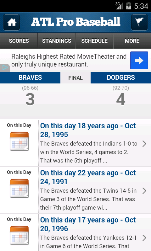 Atlanta Pro Baseball - screenshot