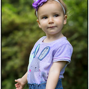 Girl in purple by Lazarina Karaivanova - Babies & Children Child Portraits ( girl )
