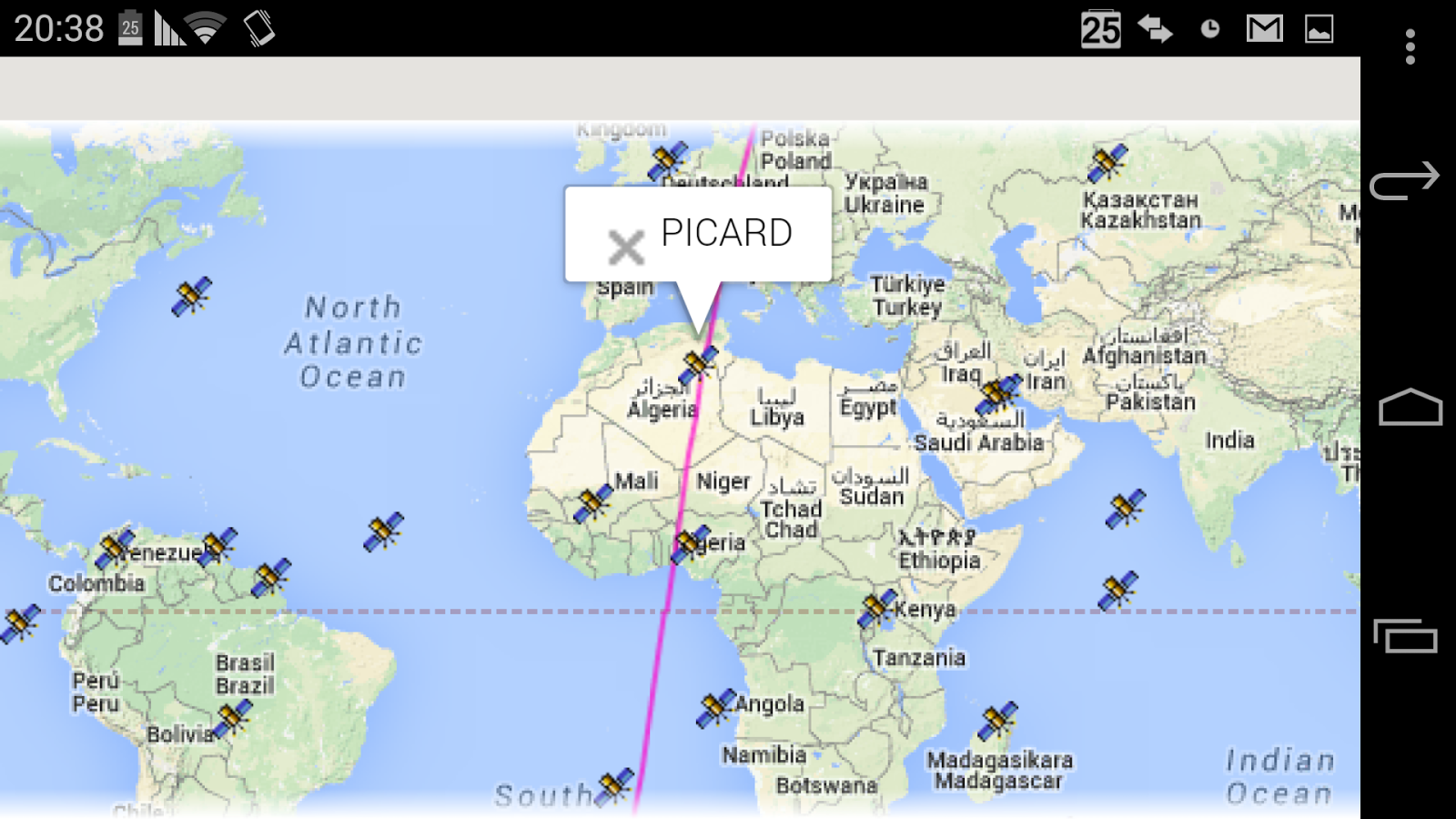 Satellite Tracker Location Android Apps On Google Play - Satellite location map
