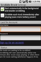 Screenshot of Scrobble Droid