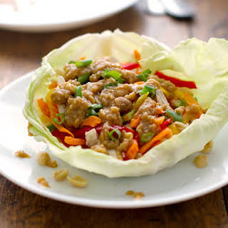 Light Thai Chicken Lettuce Wraps.