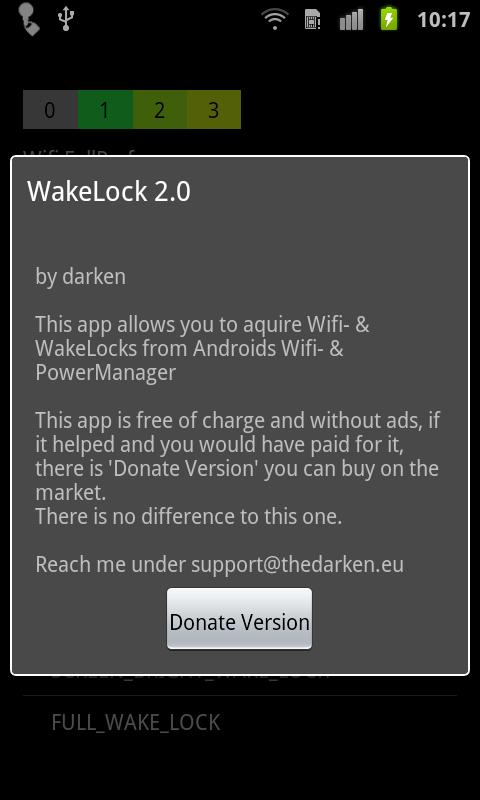 Wake Lock - PowerManager - screenshot