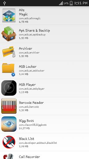 Bluetooth App Share Backup