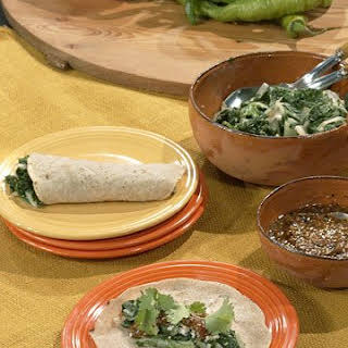 Rick's Tacos with Garlicky Mexican Greens.