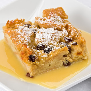 Bread Pudding in Bourbon Sauce
