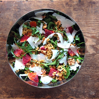 Kamut, Orange & Arugula Salad - pressure cooker