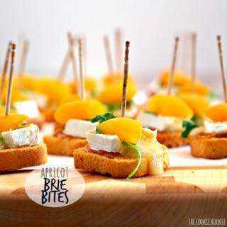 Mini Apricot Brie Bites.