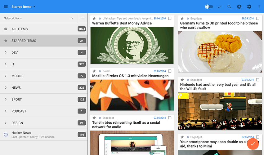 gReader | Feedly | News | RSS- screenshot