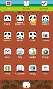 K-PANDA Theme GO Launcher EX - screenshot thumbnail
