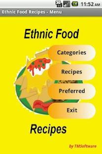 Ethnic Food Recipes- screenshot thumbnail
