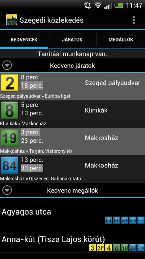 Szegedi közlekedés - screenshot