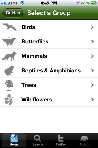 National Parks Wildlife Guide - screenshot