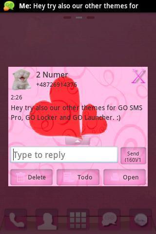 【免費個人化App】GO SMS Pink Theme Kitty Buy-APP點子