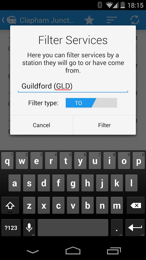 Realtime Trains - screenshot