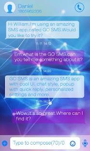 GO SMS PRO RESPLENDENT THEME- screenshot thumbnail