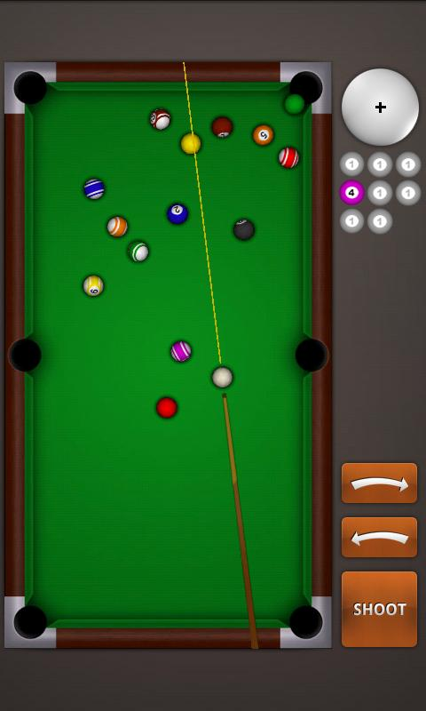 I like billard games 8