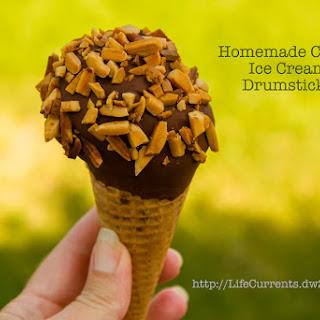 Homemade Coffee Ice Cream Drumsticks