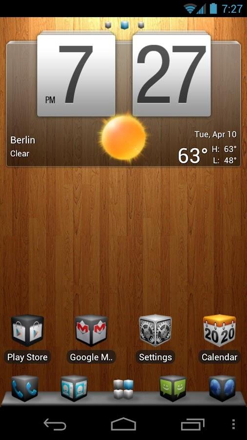 Cube Theme 4 Go Launcher Ex - screenshot