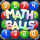 Math Balls. Bolas numéricos icon