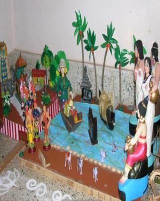 Navratri kolu ideas and themes android apps on google play for Navratri decorations at home