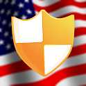 US VPN with free trial icon