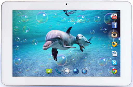 【免費個人化App】Dolphins Beach live wallpaper-APP點子