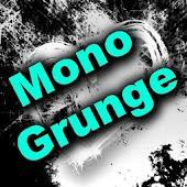 GO SMS Theme - Mono Grunge