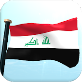 Iraq Flag 3D Free Wallpaper