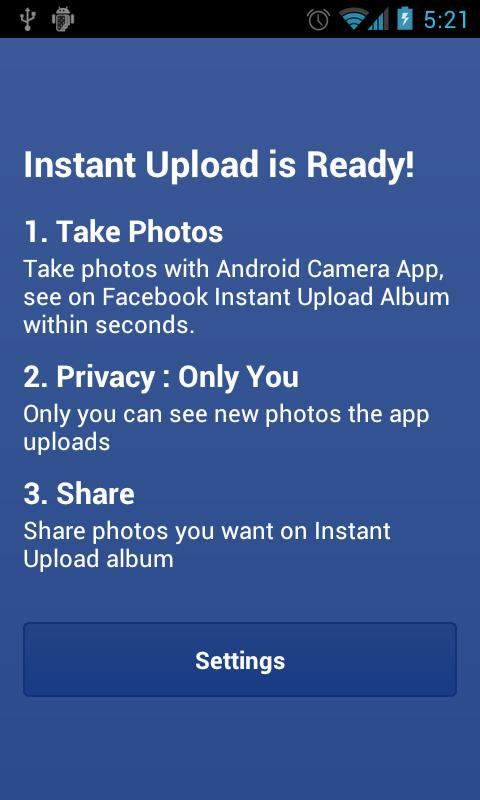 Photo Sync for Facebook - screenshot