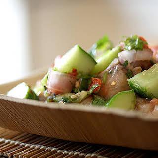 Swordfish Ceviche with an Asian Flair.