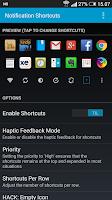 Screenshot of Notification Shortcuts